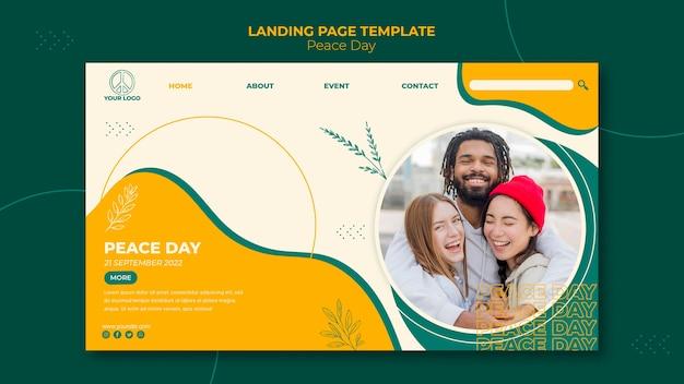 Landingpage-vorlage für den internationalen friedenstag Kostenlosen PSD
