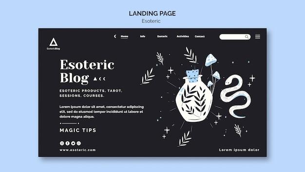 Landingpage-vorlage für esoterisches blog Kostenlosen PSD
