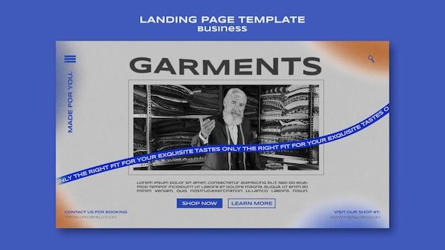 Landingpage-vorlage für kleidungsstücke Kostenlosen PSD