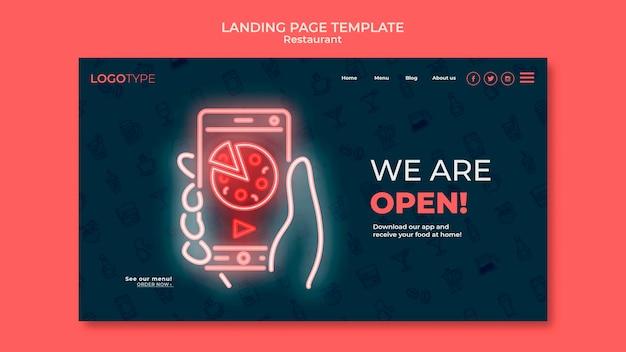 Landingpage-vorlage für lieferrestaurants Kostenlosen PSD