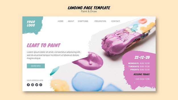 Landingpage-vorlage für malklasse Kostenlosen PSD