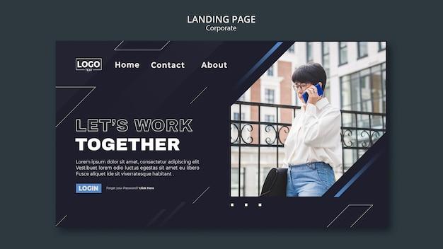 Landingpage-vorlage für professionelle unternehmen Premium PSD