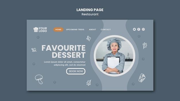Landingpage-vorlage für restaurantanzeigen Kostenlosen PSD