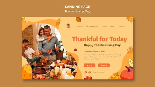 Landingpage-vorlage für thanksgiving-feier Kostenlosen PSD