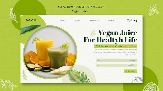 Landingpage-vorlage für vegane saftlieferfirma Premium PSD