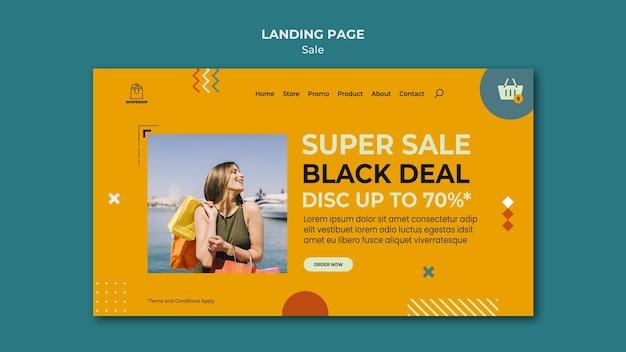 Landingpage-vorlage für verkaufskonzept Kostenlosen PSD