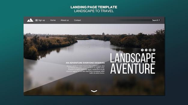 Landschaft für reisekonzept landingpage-vorlage Kostenlosen PSD