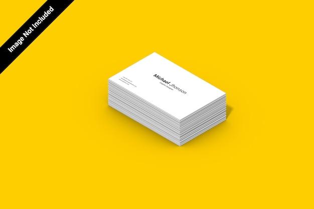 Landschafts-isomatrisches visitenkartenmodell Premium PSD