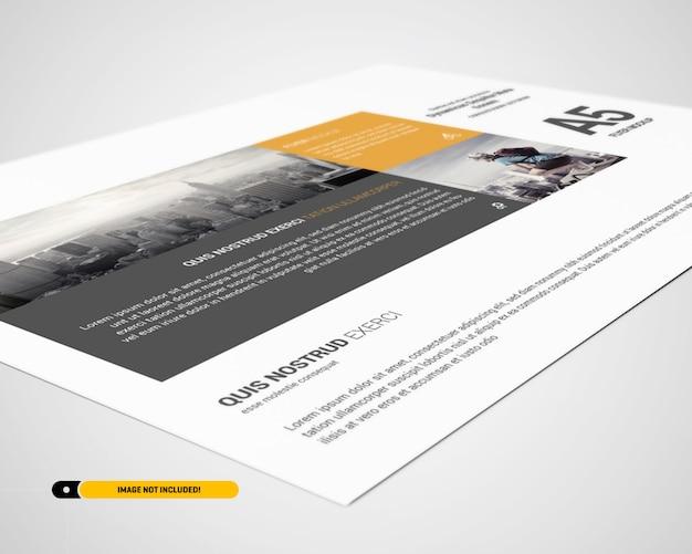 Landschaftsflieger mockup Premium PSD