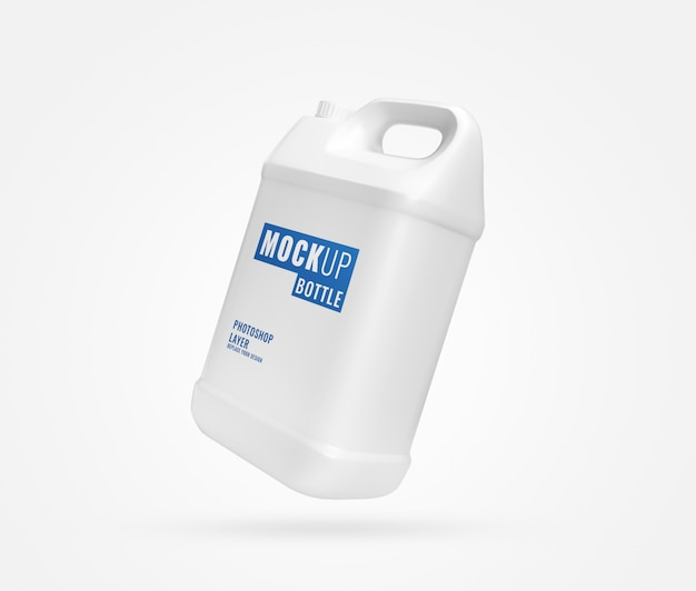 Langes weißes gallonenmodell Premium PSD