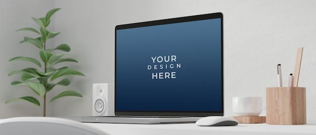 Laptop-computer mit modellbildschirm Premium PSD