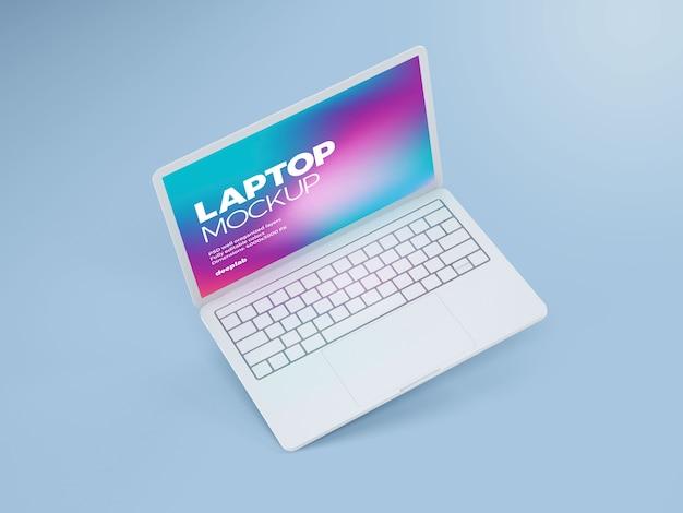 Laptop mit editierbarem hintergrundmodell Premium PSD