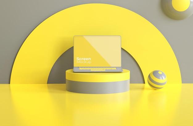 Laptop-modell mit farbe des jahres Premium PSD