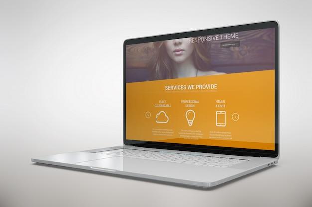 Laptop verspotten sich Kostenlosen PSD