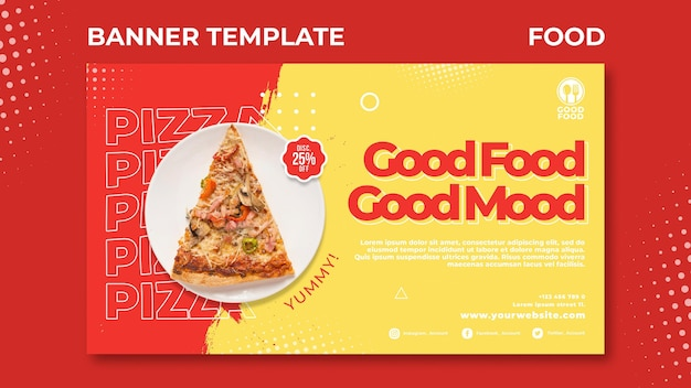 Lebensmittel-banner-vorlage Kostenlosen PSD