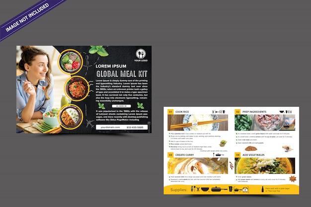 Lebensmittel flyer vorlage Premium PSD