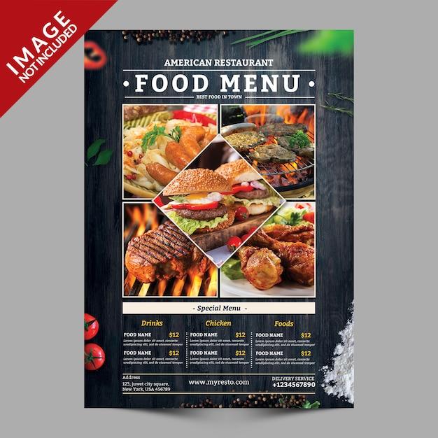 Lebensmittel menü flyer mockup Premium PSD
