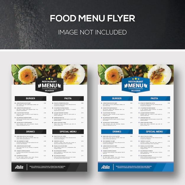 Lebensmittel menü flyer Premium PSD