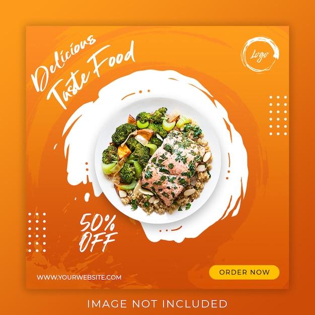 Lebensmittel menü promotion post banner vorlage Premium PSD