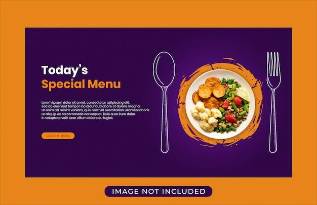 Lebensmittel menü promotion verkauf web banner vorlage Premium PSD