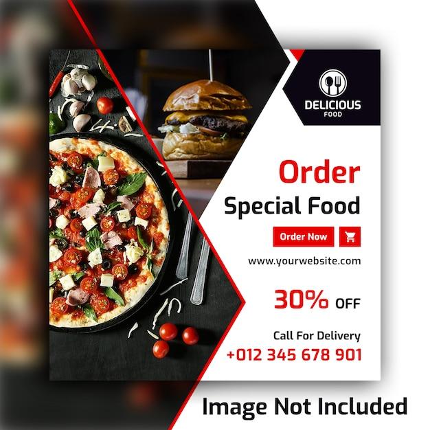 Lebensmittel social media post banner vorlage Premium PSD