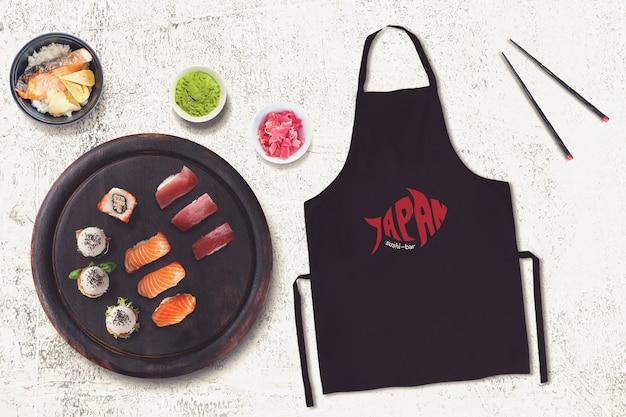 Lebensmittelmodell mit sushi-design Premium PSD