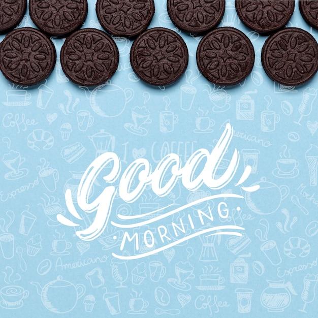 Leckere oreo cookies auf dem tisch Kostenlosen PSD