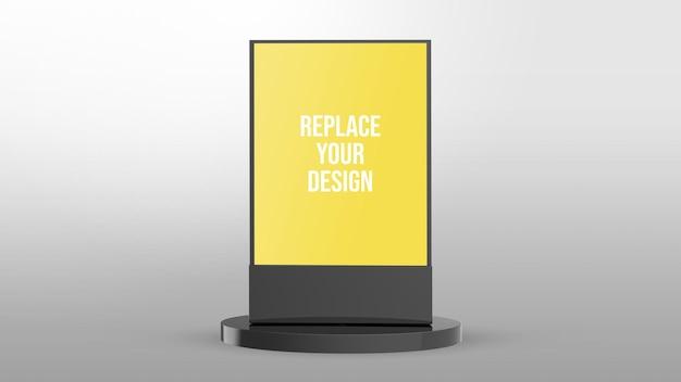 Led beschilderung 3d rendering modell design Premium PSD