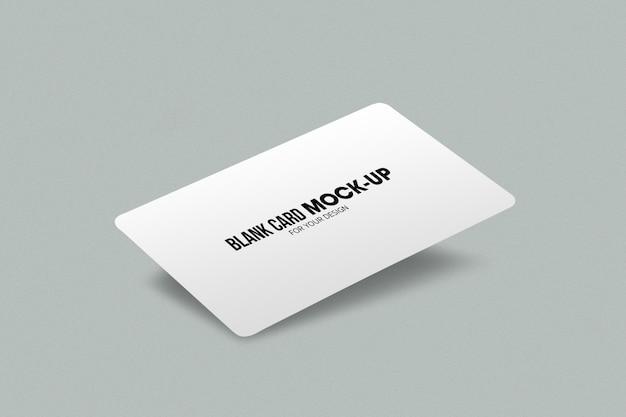 Leere geschäfts- oder visitenkartenmodellschablone. Premium PSD