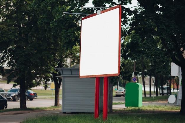 Leere plakatwand in der stadt Kostenlosen PSD