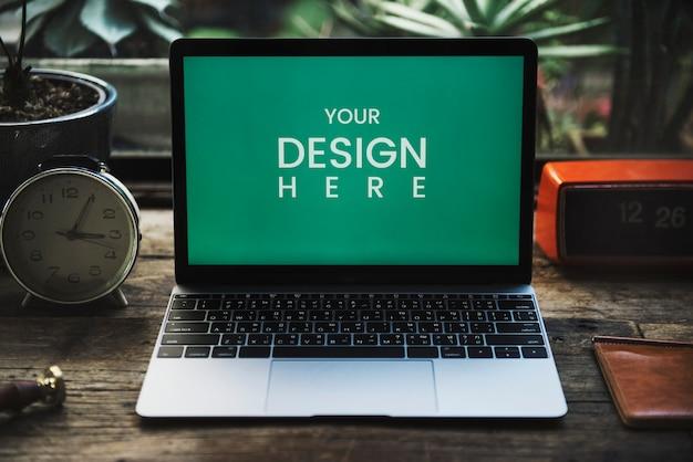 Leerer laptopbildschirm Premium PSD