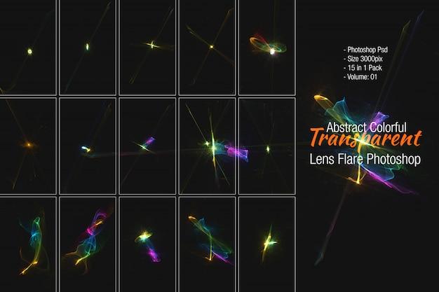 Lens flares & stars-kollatierung Premium PSD