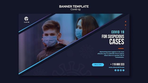 Leute, die masken im freien banner vorlage tragen Kostenlosen PSD