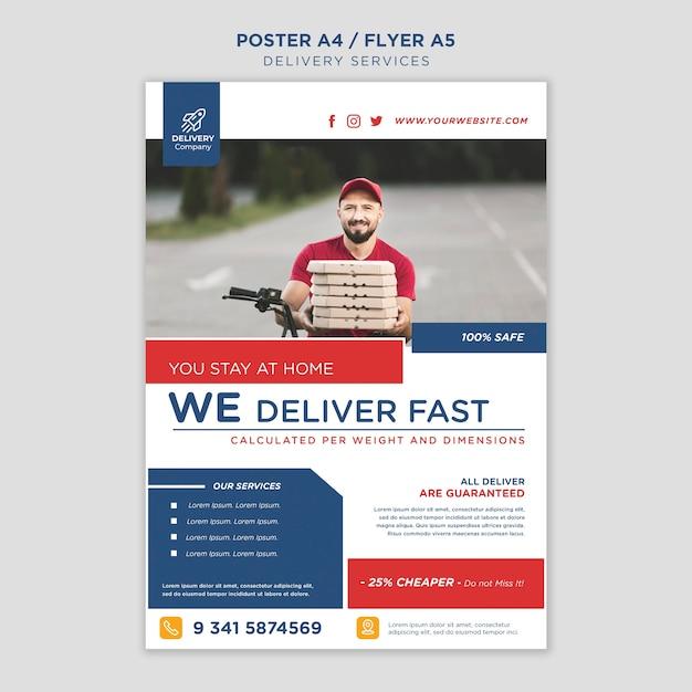 Lieferservice poster vorlage Kostenlosen PSD