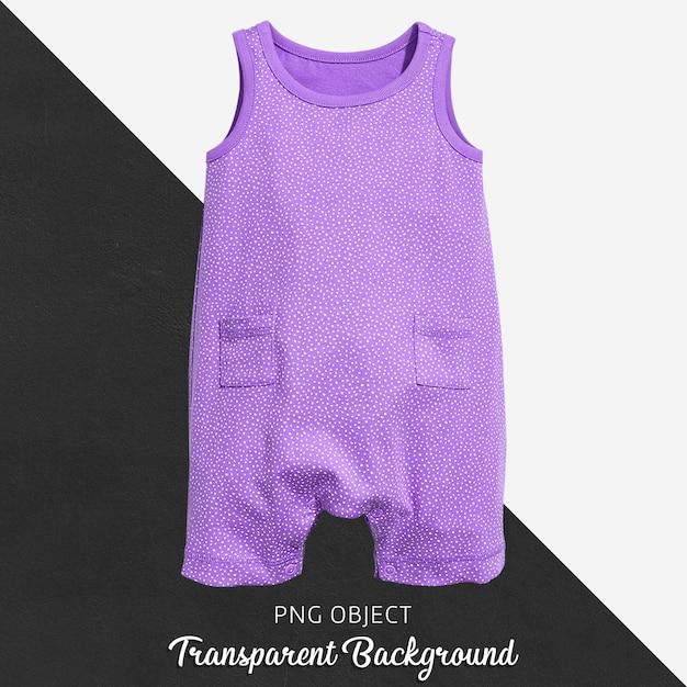 Lila overall für babys auf transparentem Premium PSD