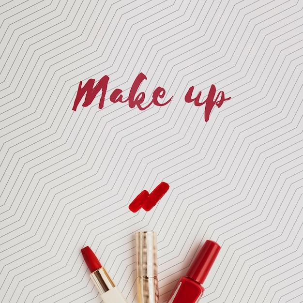 Lippenstift-make-up-konzept-modell Kostenlosen PSD