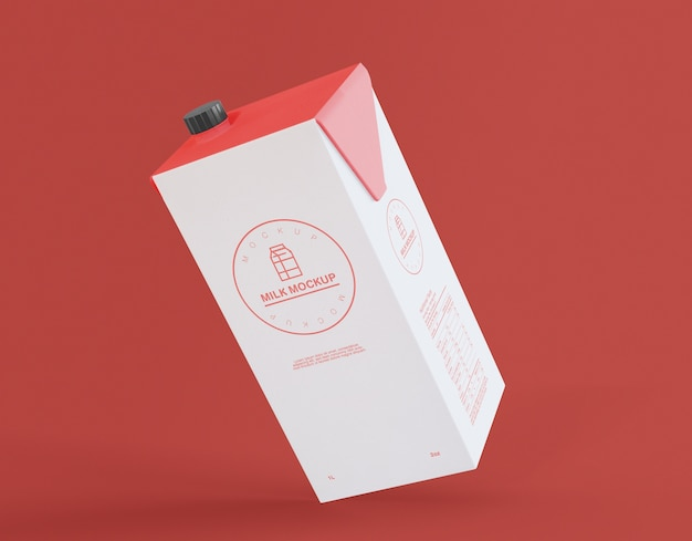 Liter carton mockup Premium PSD