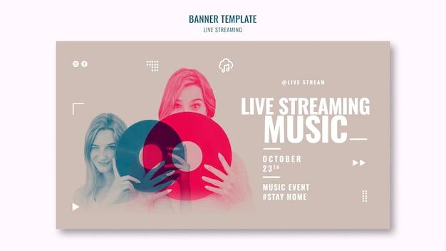 Live-musik-streaming-banner-vorlage Kostenlosen PSD