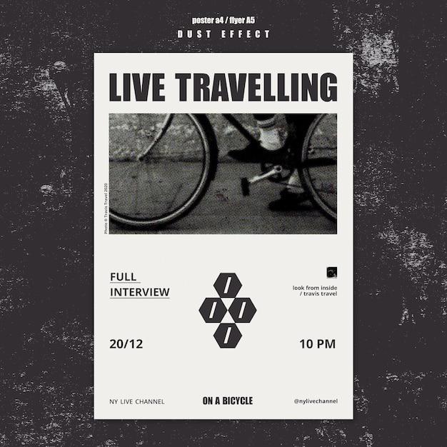 Live-reisevorlage poster Kostenlosen PSD