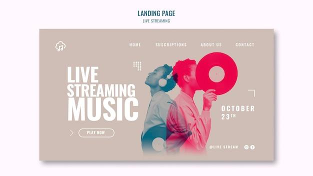 Live-streaming-landingpage-vorlage Premium PSD