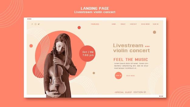 Livestream violinkonzert homepage Kostenlosen PSD