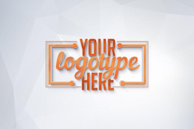 Logo vorlage auf polygonalen hintergrund Premium PSD