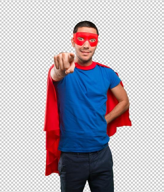 Lustiger superheld, der sie zeigt Premium PSD