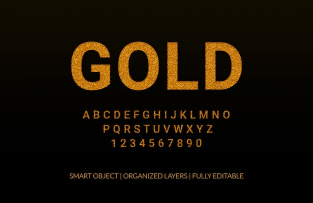 Luxus gold texteffekt Premium PSD