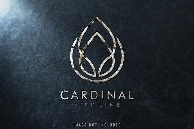Luxus-logo-modell auf marmorbeschaffenheit Premium PSD