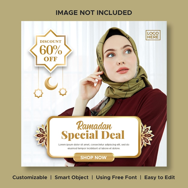 Luxus mode ramadan sonderpreis big sale rabatt banner Premium PSD