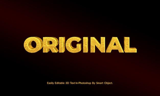 Luxus original gold 3d text effekt stil vorlage psd Premium PSD
