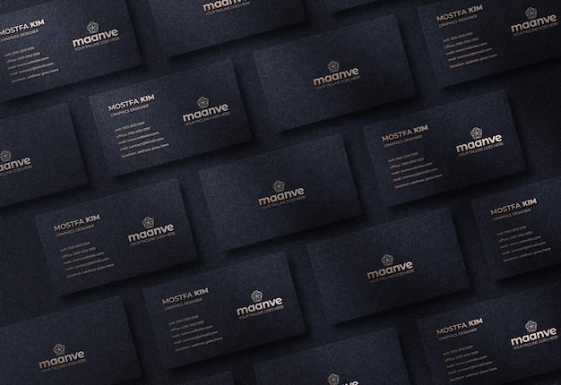 Luxus- und modernes logo-modell auf horizontaler visitenkarte Premium PSD