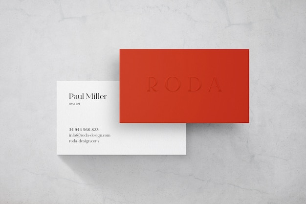 Luxus-visitenkartenmodell Premium PSD