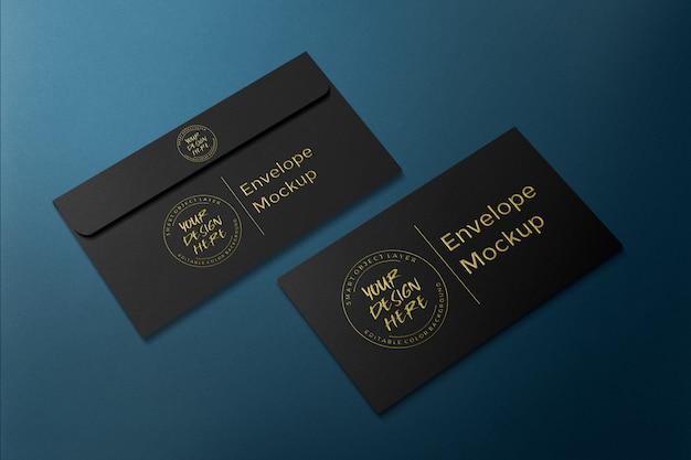 Luxusgeschäft umschlag gold geprägte mockup-vorlage Premium PSD